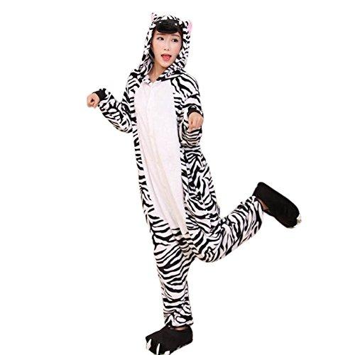 [I'MQueen Women's Zebra Onesie Animal Pyjamas for Christmas Halloween Costumes] (Madara Uchiha Halloween Costume)