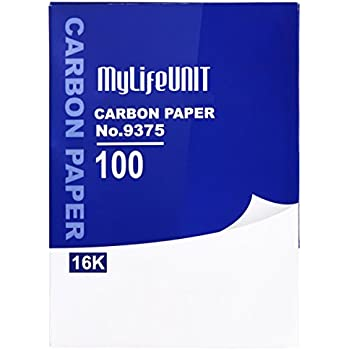 """MyLifeUNIT Double Sided Hand Copy Carbon Paper 10"""" x 7.3"""" (100 Sheets, Blue)"""