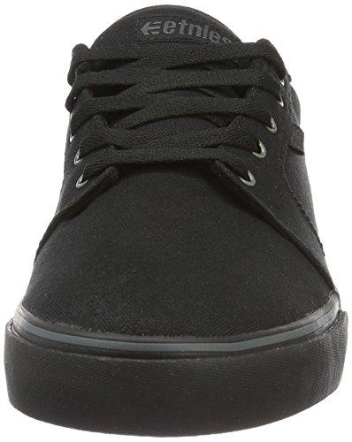 Etnies Barge LS Skateboarding scarpe, nero/nero/Gum, (8.5m) US, nero (Black (Black/Black/Gum)), 39