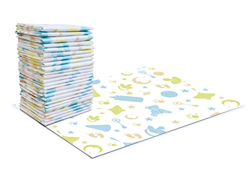 Carriella Disposable Changing Pads 25 Extra Large 24 x 18 Leak Proof Baby Diaper Travel Change Mats (Baby Diaper Change Mat)