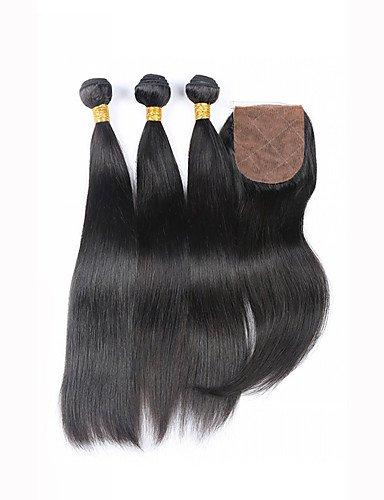 Qualité Droite Cheveux Haut 20 Non Fermeture 3 Avec Extension Traité Soie 7a De 3 amp; 4 22 Grade Vierge Jff Part Faisceaux Brésilienne 100 8TXpqCxwx