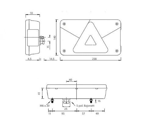 Aspöck Multipoint 5 - Leuchten Set - 13 polig 9 m Kabel mit Abgang ...