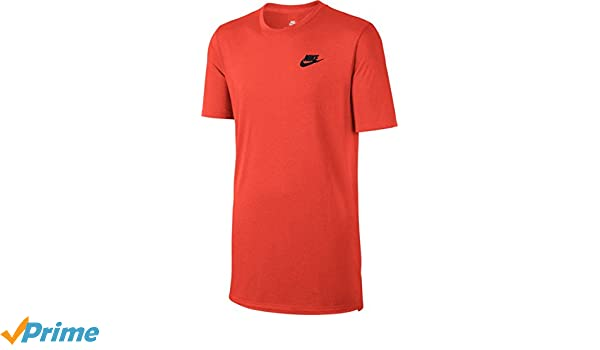 730fecfd Amazon.com: NIKE Men's Sportswear Droptail Bonded Mesh T-Shirt Large Red:  Sports & Outdoors
