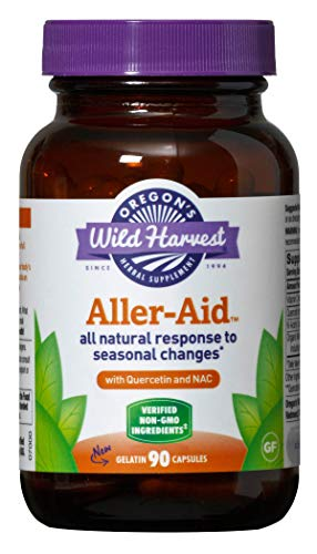 Oregon's Wild Harvest Non-GMO Aller-Aid Capsules with Quercetin (Packaging May Vary), 90 Count (Nettle Dried Leaf Freeze)