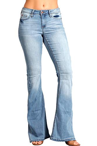 Celebrity Pink Women's Mid Rise Flare Jeans 3 Cabrillo CJ21060TY