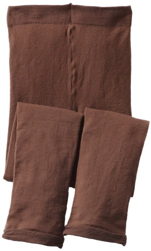 Jefferies Socks Big Girls'  Pima Cotton Footless Tight, Chocolate, 10-14 - Big Apparel Brown Chocolate Kids