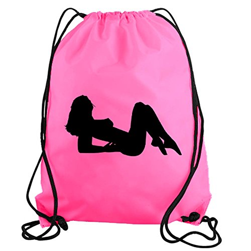stickerslug-pink-classic-mudflap-stripper-drawstring-gym-bag-nylon-workout-bag