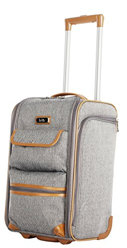 Nicole Miller New York Montana Collection Wheeled Locker Bag (Charcoal) (Duffel Wheeled Set)
