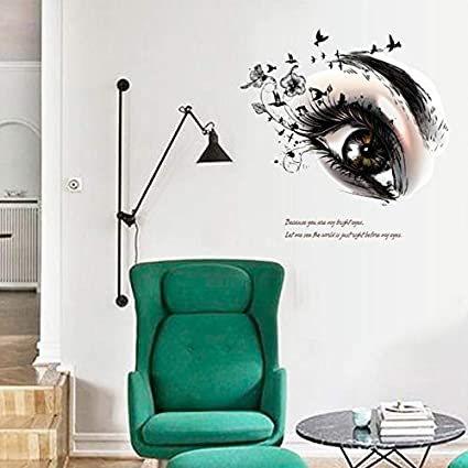 Pegatina pared ojo miel 60 x 55 cm vinilo ideal dormitorio salon ...