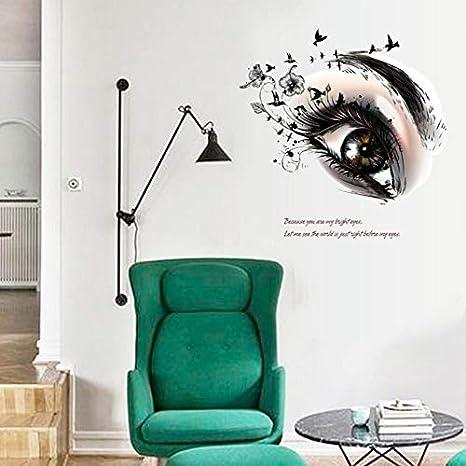 Pegatina pared ojo miel 60 x 55 cm vinilo ideal dormitorio salon de belleza peluquerias, centros de estetica, mampara baño, puertas armarios. regalo. de CHIPYHOME: Amazon.es: Bricolaje y herramientas