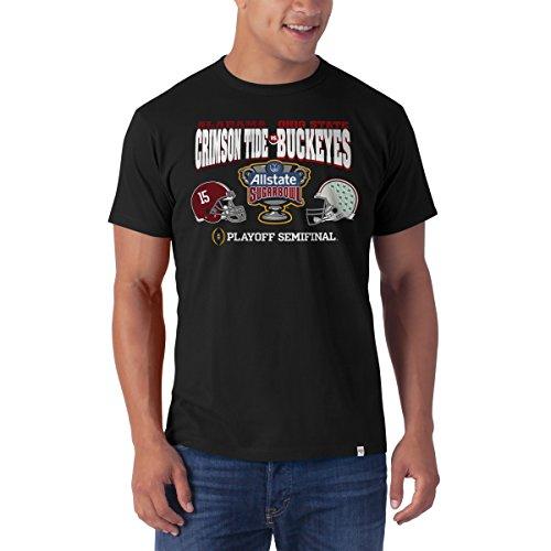 NCAA 2015 Sugar Bowl Alabama Crimson TIde vs. Ohio State Buckeyes Tee by '47 Brand (Ohio State Buckeyes Vs Alabama Crimson Tide)