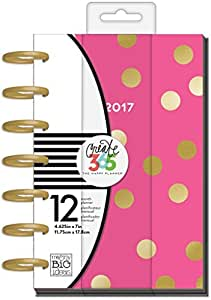 me & my BIG ideas Create 365 The 2017 Mini Happy Planner, Big City Brights, 12 Month Planner, January 2017 - December 2017