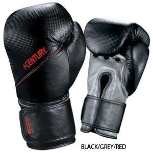 Official Men's 14oz Boxing Gloves w/ Wrist Wrap - Black/Grey/Red