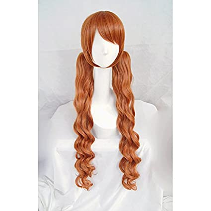 LanTing Cosplay Peluca LOVE BULLET YURI KUMA ARASHI Yurigasaki Lulu clip brown long Cosplay Party Fashion