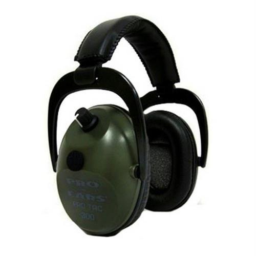 Pro Ears Pro Tac 300 NRR 26 Law Enforcement Electronic Hearing Protection Headset, PT300-G Green by Pro Ears by Pro Ears