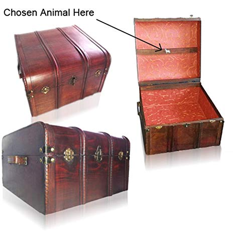 Small Steamer Trunk - Hogwarts Wooden Steamer Trunk - Patronus Edition