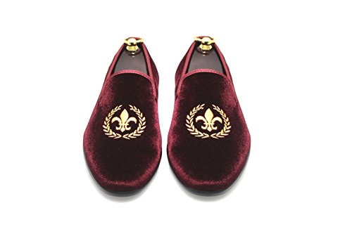 50096d59d88da SMYTHE DIGBY Slippers Burgundy Loafers. Review - SMYTHE & DIGBY Men's  Albert Slippers Burgundy Velvet ...