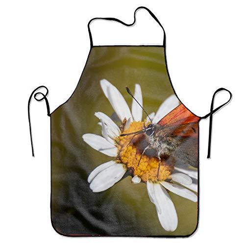 JONHBKD Teen Girls Apron,Scarce Copper Unisex Kitchen Bib Apron with Adjustable Neck for Cooking Baking Gardening