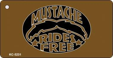 Bargain World Mustache Rides Novelty Key Chain (Sticky Notes) for $<!--$10.92-->