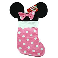 Disney Mouse Ears 18 Velour Christmas Stocking with Plush...