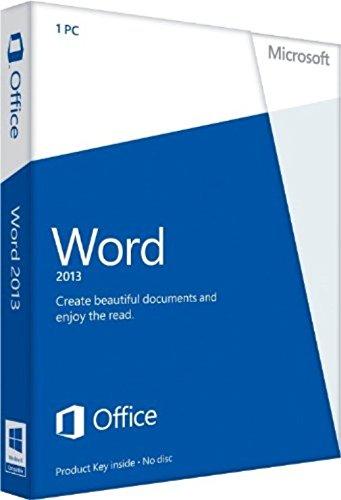 Microsoft Word 2013 Download 1 User