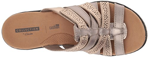 Clarks Womens Leisa Field Platform Metallic Multi Leather