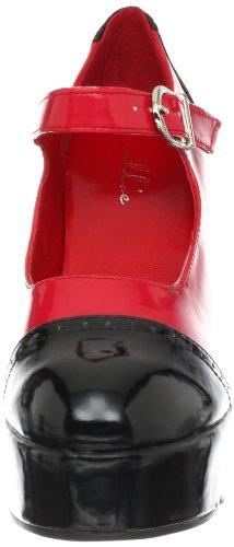 Ellie Shoes Womens Adam Sandal Black/Red 5jYU6q6Lhw