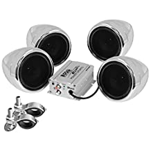 BOSS Audio MC470B Bluetooth Enabled Motorcycle/UTV Speaker and 4-Channel Amplifier System