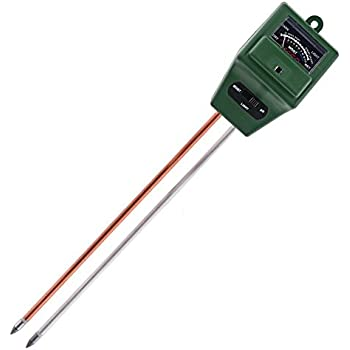 Soilster | 2pcs Most Accurate 3 in 1 Garden Soil Analysis Tester/Hygrometer (pH Alkalinity/Acidity, Moisture, Sunlight Level) with Dual 8in Probe (Aluminum and Copper) | 540.2