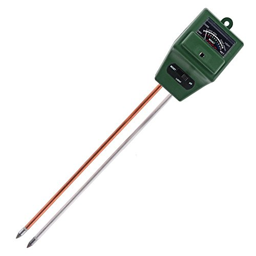 Soilster | 2pcs Most Accurate 3 in 1 Garden Soil Analysis Tester/Hygrometer (pH Alkalinity/Acidity, Moisture, Sunlight Level) with Dual 8in Probe (Aluminum and Copper) | (Accurate Aluminum Level)