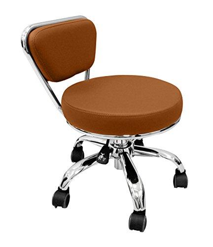 Salon Nail Pedi Stool Pedicure Chair CAPPUCCINO Pneumatic, Adjustable & Rolling Dayton