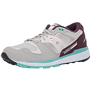 Saucony Men's Azura Sneaker, Grey/Fig, 7.5