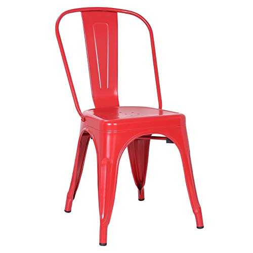 Poly and Bark Trattoria Side Chair in Red