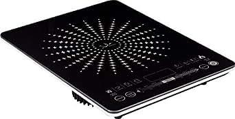 Jata VIN145 Cocina eléctrica de inducción, Cristal, Negro, 43 cm