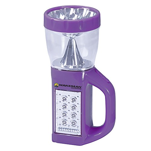 Wakeman 3 in 1 LED Lantern, Flashlight and Panel Light, Lightweight Camping Lantern Outdoors (for Camping Hiking Reading and Emergency) (Purple)