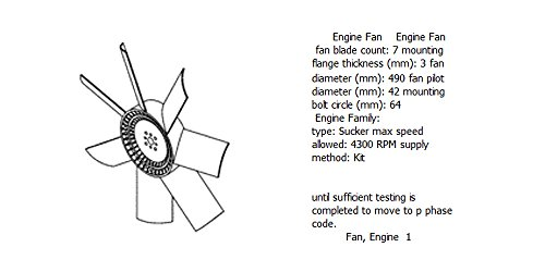 Engine fan 4988433 for diesel engine: