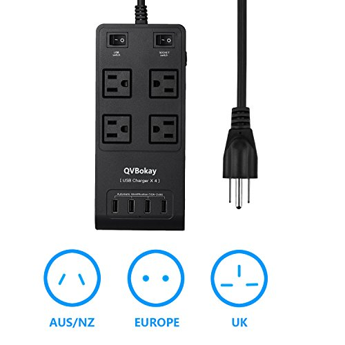 qvbokay-2500w-4-outlet-power-strip-surge-protector-6-foot-cord-with-5v-24a-4-smart-usb-charging-port