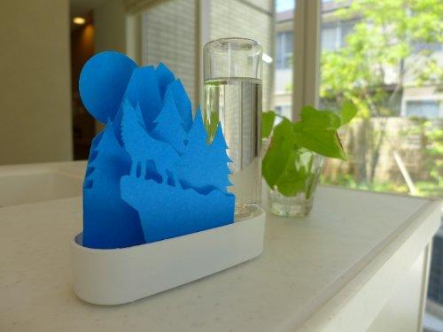積水樹脂自然気化式ECO加湿器うるおいちいさな森オオカミ‐ブルーULT-OK-BL