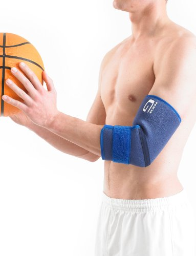 Neo G Elbow Support - For Epicondylitis, Tennis Golfers Elbow, Sprains, Strain Injuries, Tendonitis, Arthritis, Recovery, Sports - Adjustable Compression - Class 1 Medical Device - One Size - Blue by Neo-G (Image #3)