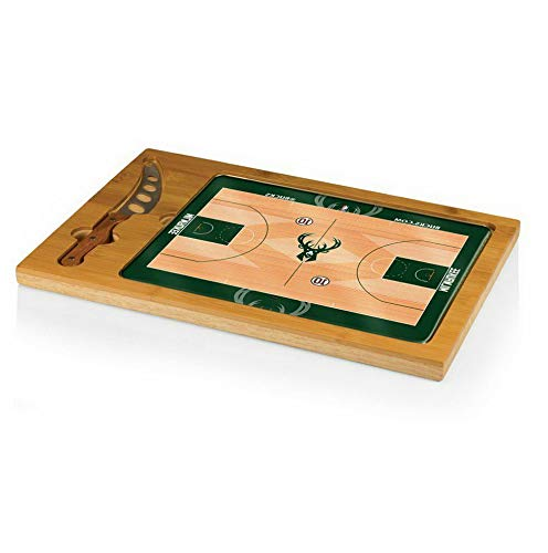 (Mikash NBA Icon Glass Top Serving Tray and Knife Set | Model PCNCST - 553 |)