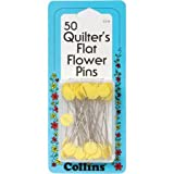 quilters flower pins - Collins COL115 50 Piece Flat Flower Pin Quilter's, 2