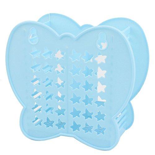 (eDealMax Forma Farfalla scavano fuori Hole forcella del cucchiaio bacchette titolare Blue)