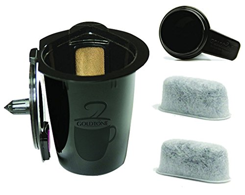 GoldTone Karafe-Plus Reusable Coffee Filter, Fits Keurig 2.0 Brewers Kit: 1 Simple Scoop & 2 FWA 200 Water Filters by Gold Tone