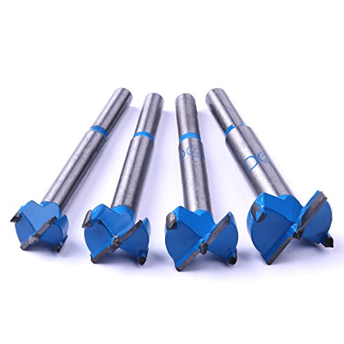 Atoplee 16mm 20mm 22mm 25mm Diameter Wood Cutting Hinge Boring Drill Bit Tool, 4 pieces