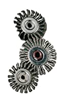 "United Abrasives- SAIT 06378 4"" x .014 x 1/2 Arbor Carbon Bristle Knot Style Angle Grinder Wire Wheel"