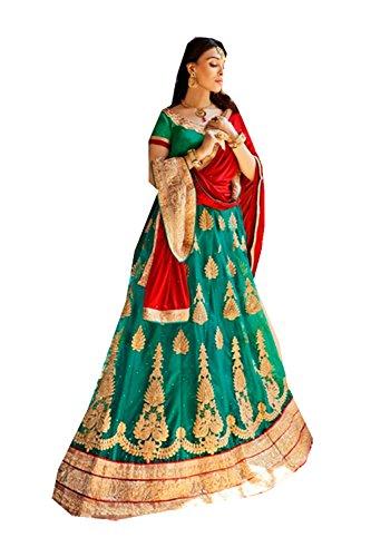 PCC Womens Emerald Striking Lehenga Choli With Embroidery Work 80371 80371