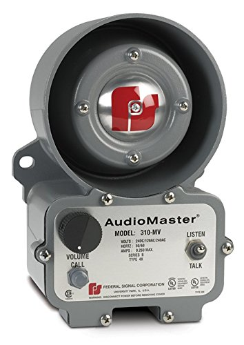 Federal Signal 310-MV Audio Master Industrial Two Way Intercom, Multi-Voltage, Gray by Federal Signal