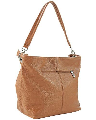 Leather Dark amanda Sa094623go Shoulders Woman Camel Handbag Histoiredaccessoires 1Wdq4w6U1n