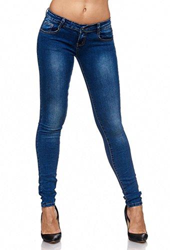 Blu Usati Da Donna Fit Classici D2076 Jeans Lavati Pantaloni Arizonashopping Skinny BIXv7w
