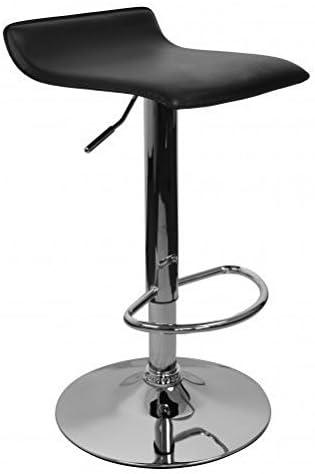 2x Design Barhocker Holz höhenverstellbar 360° drehbar Holzsitz Chromgestell